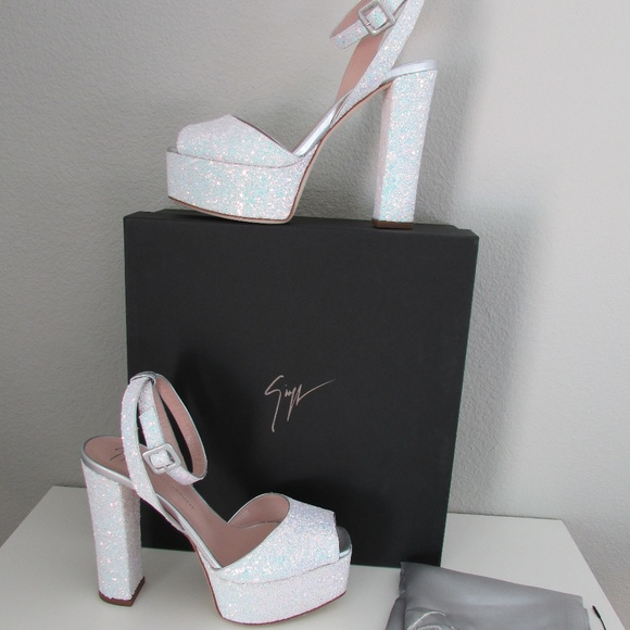 6bd4486bb665c Giuseppe Zanotti Shoes | Betty White Glitter Sandals | Poshmark